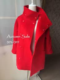 womens red coat red winter coat red wool coat military style wool coats women coat winter coat wool long coat winter jacket