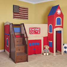 Castle Loft Bed Plans Bedroom Wonderful Bunk Beds With Stairs For Kids Bedroom