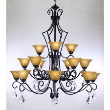 versailles 15 light black iron and swarovski crystal chandelier