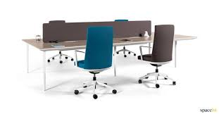 long office desks. long white office desk four person with a wood top desks