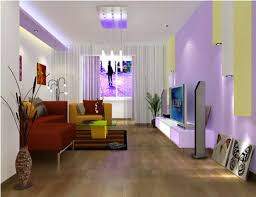 small living room design ideas. Living Room Medium Size Purple Wall Small With White Hang Lamp And Wooden Floor Design Ideas V