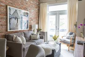 the brick condo furniture. This Polished Condo Will Make You Fall In Love With Exposed Brick All Over Again The Furniture A