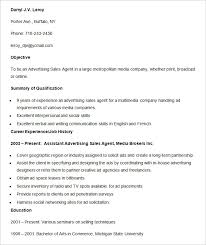 media advertising sales agent resume template media resume template