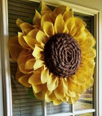 Burlap Sunflower Pattern