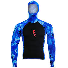 Ambush Rashguard L S W Hood Hh Camo Blue