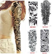3ks Dočasné Tetování Rukáv Vodotěsné Tetování Pro Muže ženy Převod