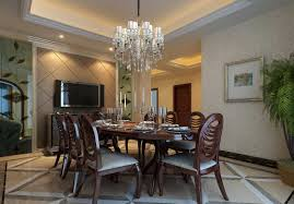 Chandelier Over Dining Room Table Modern Dining Room Chandelier Over White Dining Table Home
