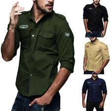 Casual Button-Down Shirts Men Ennglun <b>Mens Autumn Casual</b> ...