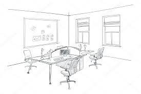 modern interior office stock. Modern Interior Sketch Of Open Space Office. \u2014 Stock Vector Office I