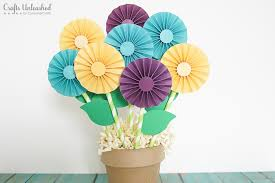 mothers day gift idea rosette paper bouquet crafts