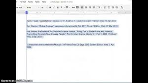what is a works cited page quick formatting for a works cited page in google docs youtube