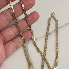 18k gold plated gucci link necklace won t tarnish