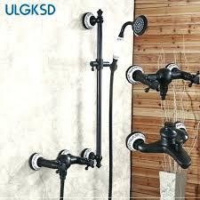 oil rubbed bronze shower faucet set 8 rain head hand