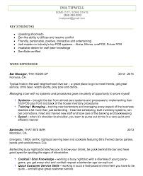 Perfect Bartender Resume Bartenders Resume Writing Service We Tailor The Resume To You 17