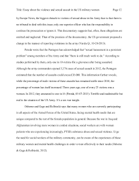 essay about the violence and sexual assault in the us military women according to information published 12 title essay about the violence and sexual assault