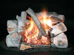 ceramic logs for gas fireplace the birch is a log set for a vent free fireplace