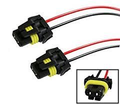 amazon com ijdmtoy (2) 900 series 9005 9006 female adapter wiring Fog Light Wiring Harness ijdmtoy (2) 900 series 9005 9006 female adapter wiring harness sockets wire for fog light wiring harness kit
