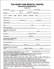 medical patient registration form appointments forms