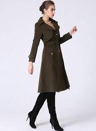 womens clothes trench coat military coat winter coat women army green coat wool jacket asymmetrical coat oned coat coat with pockets