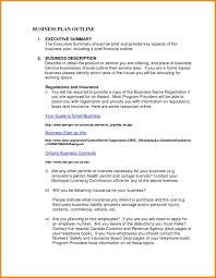 Business Brief Example Business Plan Summary Sample Uatour Org