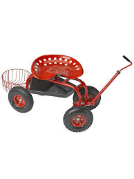 garden scooter seat. Amazon.com : Deluxe Tractor Scoot With Bucket Basket Gardening Wagons Garden \u0026 Outdoor Scooter Seat