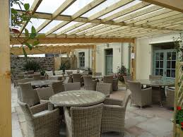 office seating area. Cann Office Covered Outdoor Dining Seating Area C