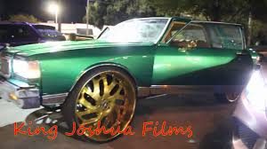 2 Door Box Chevy Caprice On 30s Gold Amani Forged - YouTube