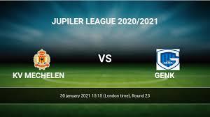 KV Mechelen vs Genk H2H 30 jan 2021 Head to Head stats prediction