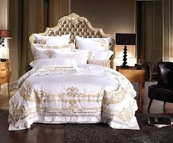 luxury duvet covers king cotton white embroidery palace royal luxury bedding sets king queen size hotel