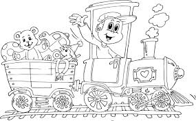 Small Picture train of toys coloring page coloringcom