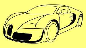 How to draw a car Bugatti Veyron Fast and Furious 7 step by step ...