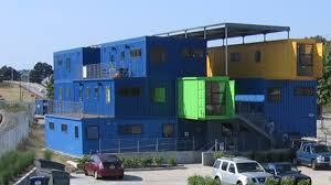 container office building. building an office of shipping containers container n