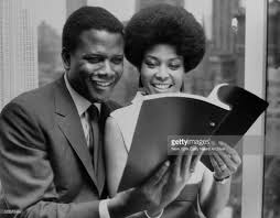 Actor Sidney Poitier with jazz singer Abbey Lincoln, September 1967. |  Singer, Actors, Jazz
