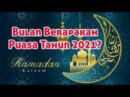 Dalam karyanya yang mengupas tentang amalan sepanjang tahun, yang. Ramadhan Tahun 2021 Youtube