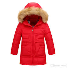 2017 girl winter warm coat kid school long sleeve fur hooded casual long jacket kid fashion kid snow wear winter coat down jacket toddler boy down