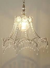 shabby chic chandelier from a lamp shade skeleton to chandelier shabby chic chandeliers australia