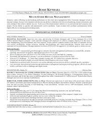 Executive Resume Objective Examples Retail Manager Resume Objective