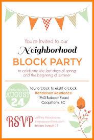 Neighborhood Party Invitation Wording Neighborhood Party Invitation Wording Block Party Invitation Wording