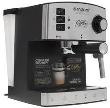 Купить <b>Кофеварка</b> рожковая <b>Endever Costa</b>-<b>1060</b> серебристый по ...