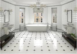 White floor tiles bathroom Pinterest Image Of Black And White Bathrooms Pinterest Aricherlife Home Decor Trendy Black And White Bathroom Tile Aricherlife Home Decor Trendy