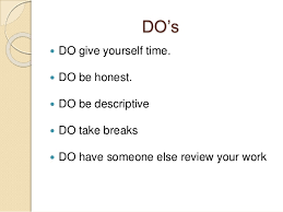 how to write an essay  do s and don ts 12 do s  do give yourself