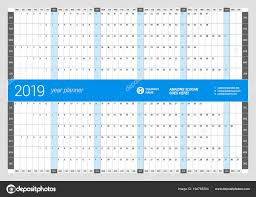 Yearly Calendar Planner Template Yearly Wall Calendar Planner Template For 2019 Year Vector Design