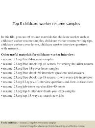 Childcare Worker Resume Top224childcareworkerresumesamples224lva224app62249224thumbnail24jpgcb=224243222490224224224 15
