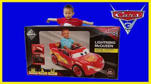 disney cars 3 lightning mcqueen 6 volt ride on power wheel unbox assemble