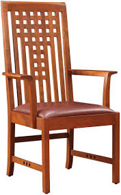 stickley lattice dining chair craftsman style