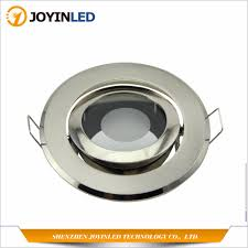 How To Fit Gu10 Light Fittings Us 47 6 30 Off Pack X 6 Recessed Led Downlights Mr16 Light Fitting Gu10 Mr16 Socket Zinc Alloy Circle Satin Fitting Frame In Spotlights From