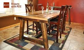 diy rustic dining room tables. How To Build A Rustic Dining Room Table Farm Diy Plans Tables