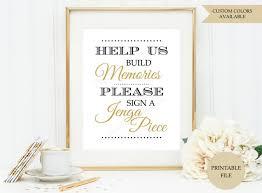 Jenga Guest Book Sign Printable File Jenga Wedding Sign