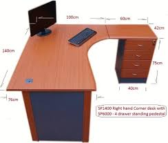 office corner table. 1.4 M Office Corner Desk Right Hand With 4 Drawer Pedestal - (Cherry / Dark Grey): Amazon.co.uk: Products Table A