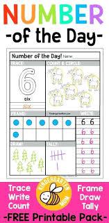 Free Kindergarten Number Worksheets Trace Count Color Frame Write ...